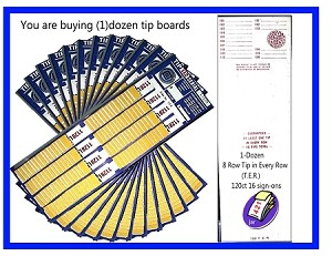 120 Single Tips (101-116) 8 Rows pkg of 12