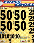 1999ct 50c 3W Criss Cross (4-$ 50s) $1.00 bottom tier