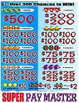 4662ct $1.00 5W Super Pay Master (1-$500, 2-$200) $2.00 bottom tier